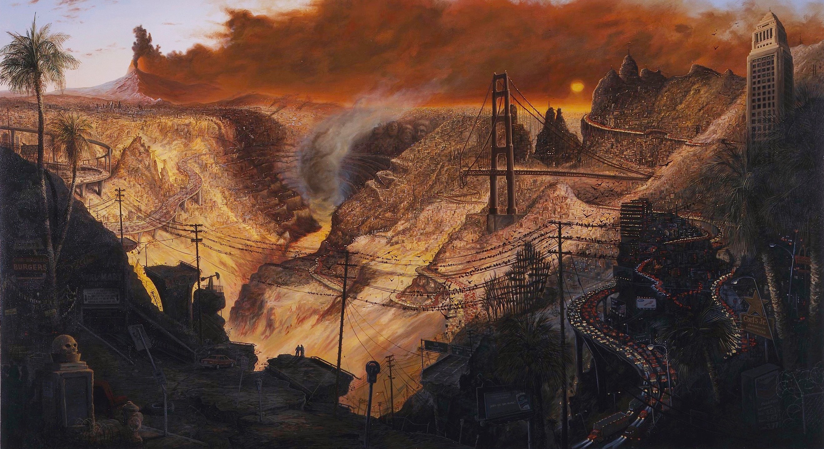 "Sandow Birk, ""Inferno,"" 2003, oil on canvas."